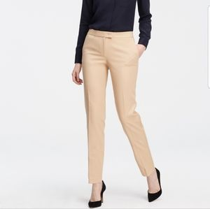 Ann Taylor Tan Devin Fit Trousers, Size 2
